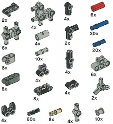 LEGO Technic Pegs, Joints, Peg-Joints Pack