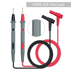 SIMCAST 2 PCS 1000V/20A Digital Multimeter Test Lead Probe Multimeter Probe Cable Wire Pen Red/Black Replacement